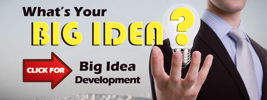 Image of ad promoting big idea development.